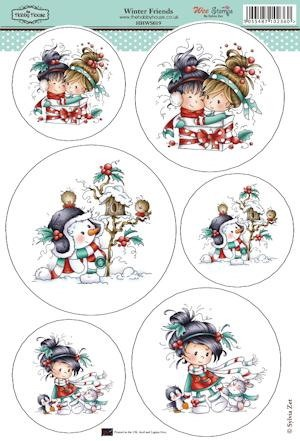The Hobby House - Wee Stamp toppers - Stansvel - Winter Friends