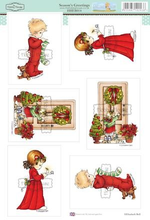 The Hobby House - Elisabeth Bell toppers - Stansvel - Season`s Greetings