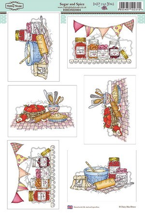 The Hobby House - Daisy Mae Draws toppers - Stansvel - Sugar & Spice