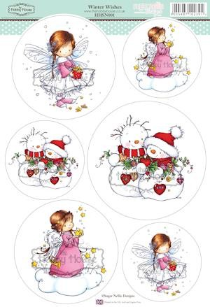 The Hobby House - Sugar Nellie toppers - Stansvel - Winter Wishes