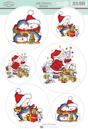 The Hobby House - Sugar Nellie toppers - Stansvel - Jolly Christmas