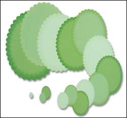 Crafts-Too - Die Cutting & embossing - Oval scalloped edge
