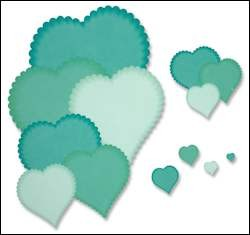 Crafts-Too - Die Cutting & embossing - heart dies scalloped edge