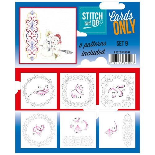 Card Deco - Stitch & Do - Cards only - Set 9