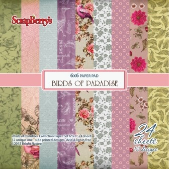 ScrapBerry`s - Paper Collection - Birds of Paradise