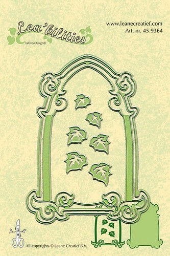 Leane Creatief - Cutting & Embossing - Frame arch & leaves