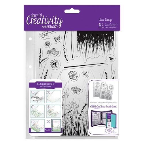 DoCrafts - Clear Stamp Set - Meadow