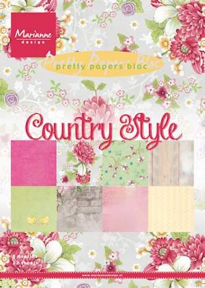 Marianne Design - Pretty Papers Bloc - Country style A5 formaat