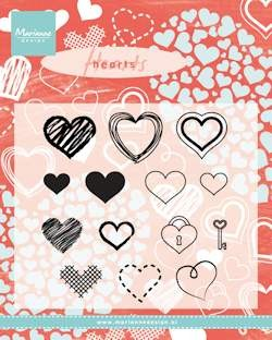 Marianne Design - Clearstamp - Hearts set