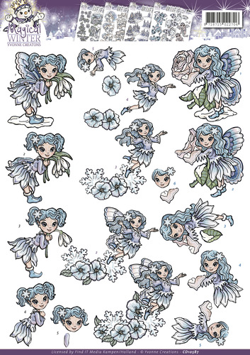 Yvonne Creations kerst - Magical winter - Fairies