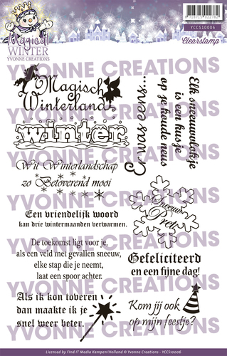 Yvonne Creations - Clearstamp - Magical winter - Tekst