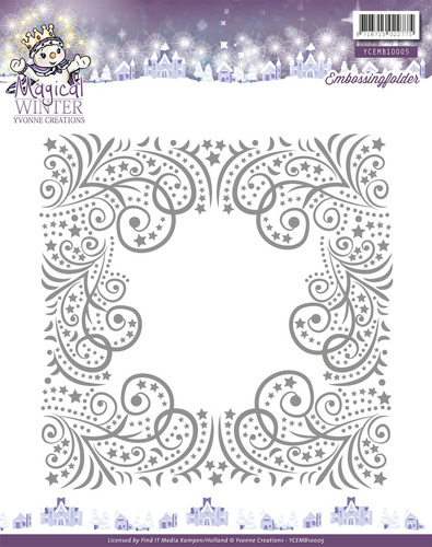 Yvonne Creations - Embossing Folder - Magical winter
