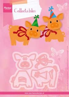 Marianne Design - Die - Collectables - Set stencil Eline`s piglet