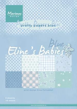 Marianne Design - Pretty Papers Bloc  - Eline`s babies blue