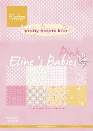 Marianne Design - Pretty Papers Bloc  - Eline`s babies pink