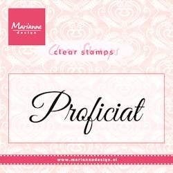 Marianne Design - Clearstamp - Proficiat