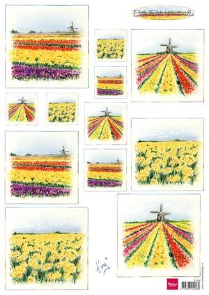 Marianne Design - knipvel - Bulb fields windmills