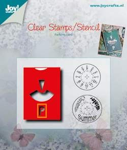 Joy!Crafts - Clear stamps / Snijmal - Parkeerkaart