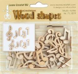 Leane Creatief - Leane Wood shapes musical notes