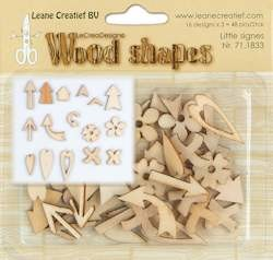 Leane Creatief - Leane Wood shapes little signs