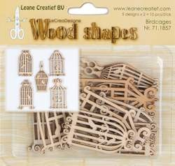 Leane Creatief - Leane Wood shapes birdcages