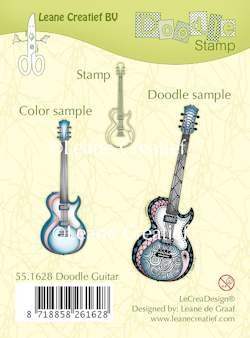 Leane Creatief - Clearstamp - Doodle clear stamp guitar