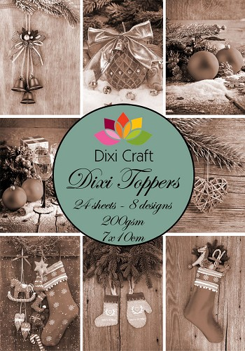 Dixi Craft - Toppers - kerst - Sepia