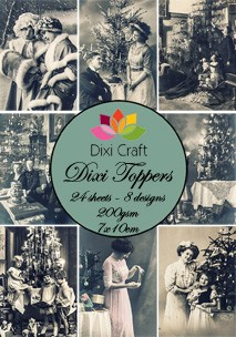 Dixi Craft - Toppers - kerst vintage - Sepia