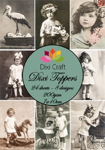Dixi Craft - Toppers - Vintage - Sepia