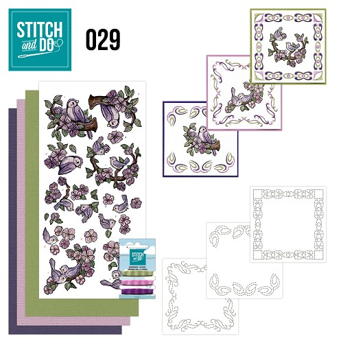 Card Deco - Stitch and Do - Borduurset 29 - Birds