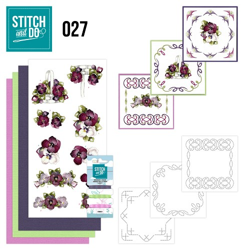 Card Deco - Stitch and Do - Borduurset 27 - Flowers