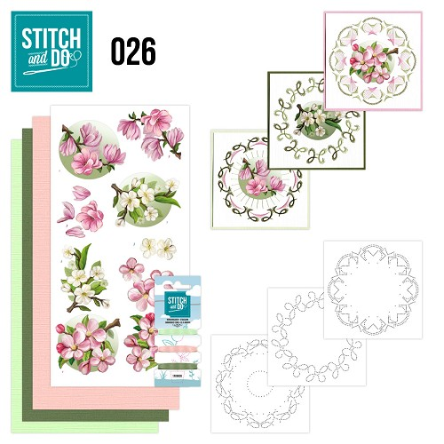 Card Deco - Stitch and Do - Borduurset 26 - Spring Flowers