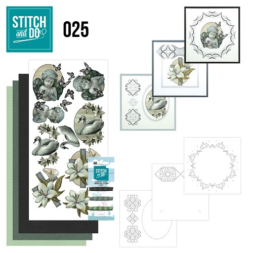 Card Deco - Stitch and Do - Borduurset 25 - Condoleance