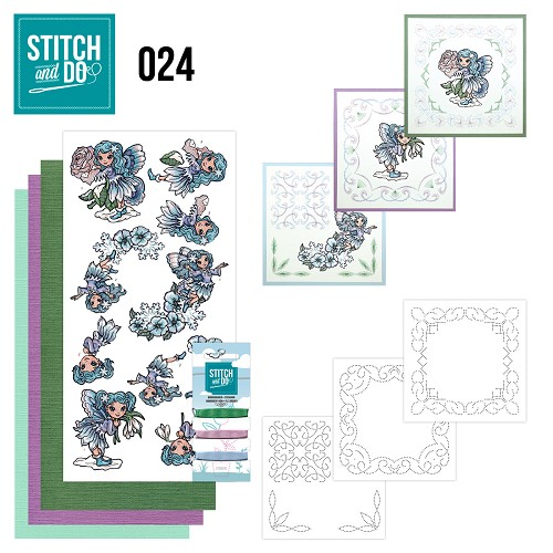 Card Deco - Stitch and Do - Borduurset 24 - Fairies
