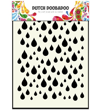 Dutch Doobadoo - Dutch Mask Art - Rain drops