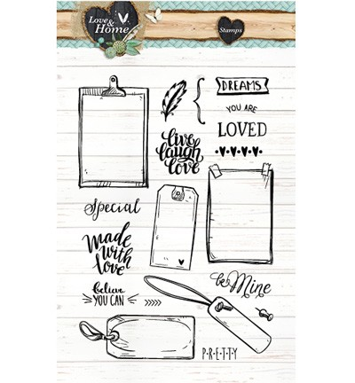Studio Light - Clearstamp - Love & Home