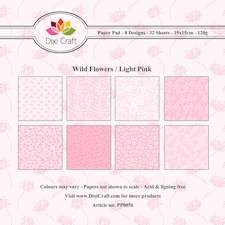 Dixi Craft - Paperpack - Wild flowers - light pink