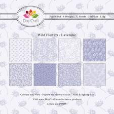 Dixi Craft - Paperpack - Wild flowers - lavender
