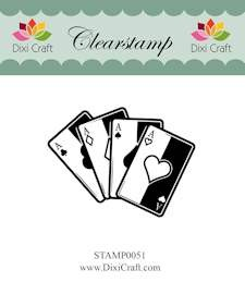 Dixi Craft - Clearstamp - Playing cards