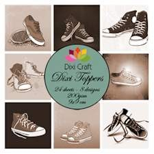 Dixi Craft - Toppers - Shoes sepia