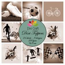 Dixi Craft - Toppers - Sport Sepia