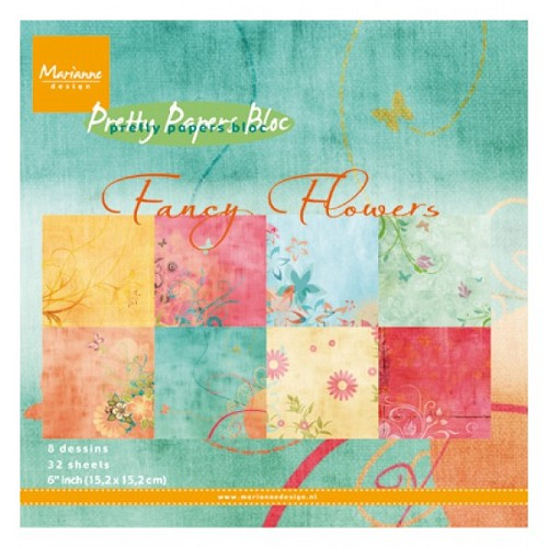 Marianne Design - Pretty Papers Bloc - Fancy Flowers