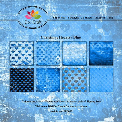 Dixi Craft - Paperpack - Christmas Heart - Blue