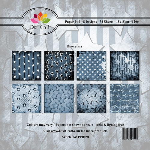 Dixi Craft - Paperpack - Blue Stars