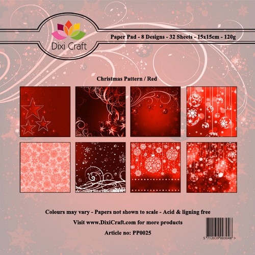 Dixi Craft - Paperpack - Christmas Pattern - Red