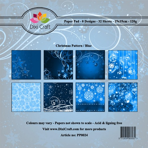 Dixi Craft - Paperpack - Christmas Pattern - Blue
