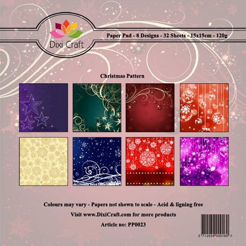 Dixi Craft - Paperpack - Christmas Pattern