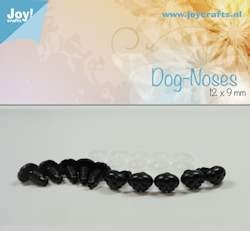Joy!Crafts - Dog nose, black 12x9mm 10 pcs