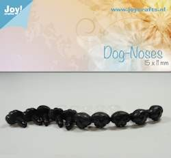 Joy!Crafts - Dog nose, black 15x11mm 10 pcs