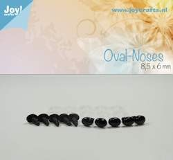 Joy!Crafts - Oval nose, black 8.5x6mm 10 pcs
